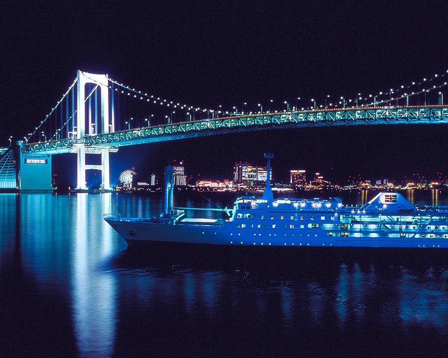 東京湾納涼船と橋