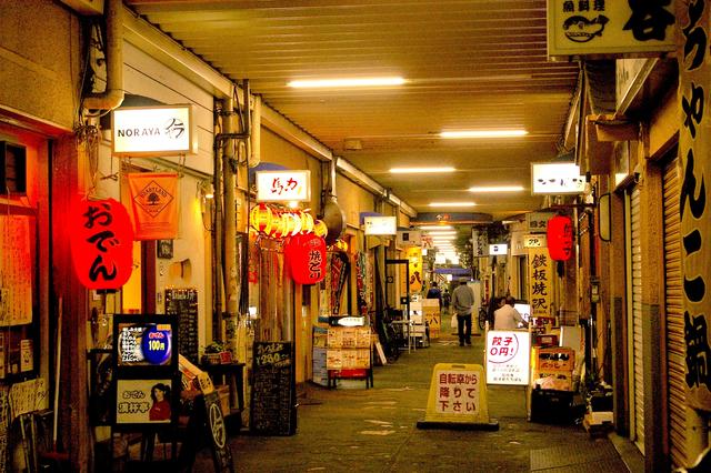高円寺の高架下