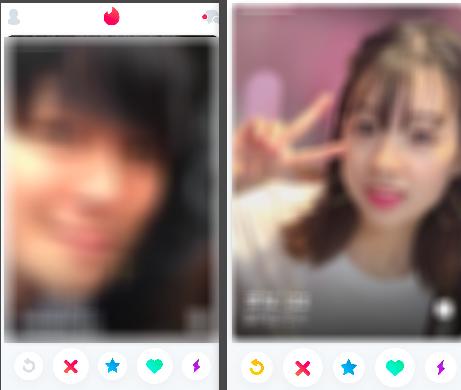Tinderユーザーの顔