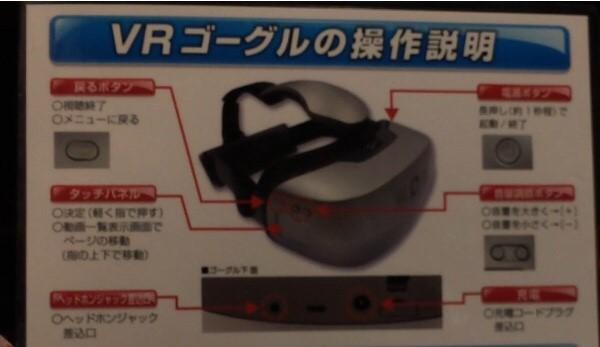 VRゴーグルの操作説明