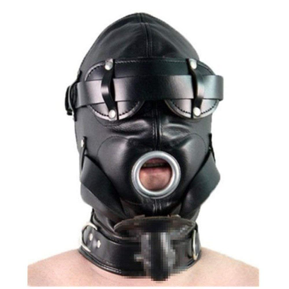 全頭 PU レザー マスク