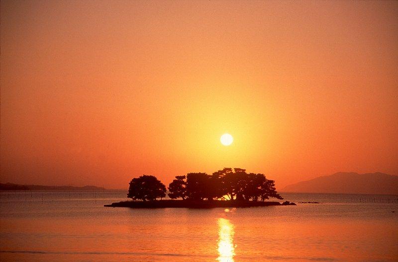 宍道湖夕日スポット