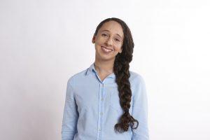 ブルーシャツ女6
